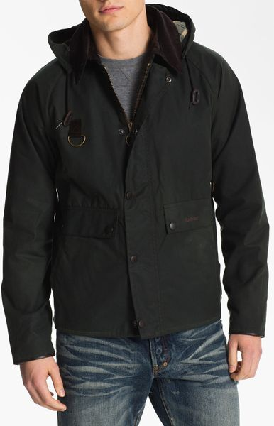 Barbour Standen Hooded Jacket in Green for Men (sage)