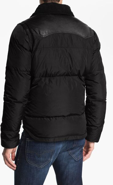 Diesel Wilkiam Down Jacket In Black For Men Lyst