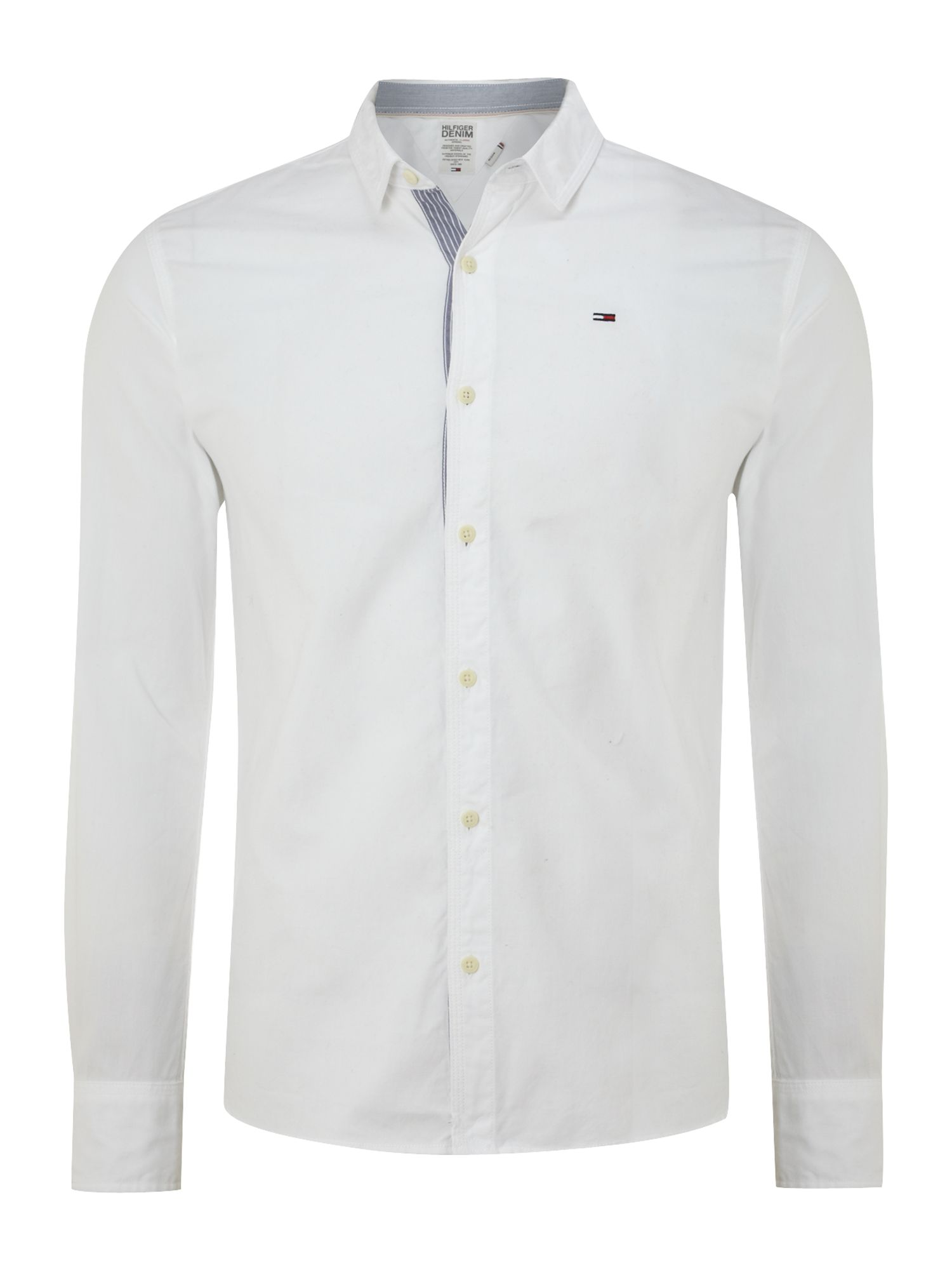 Lyst tommy hilfiger long sleeve georgetown oxford shirt for White oxford shirt mens