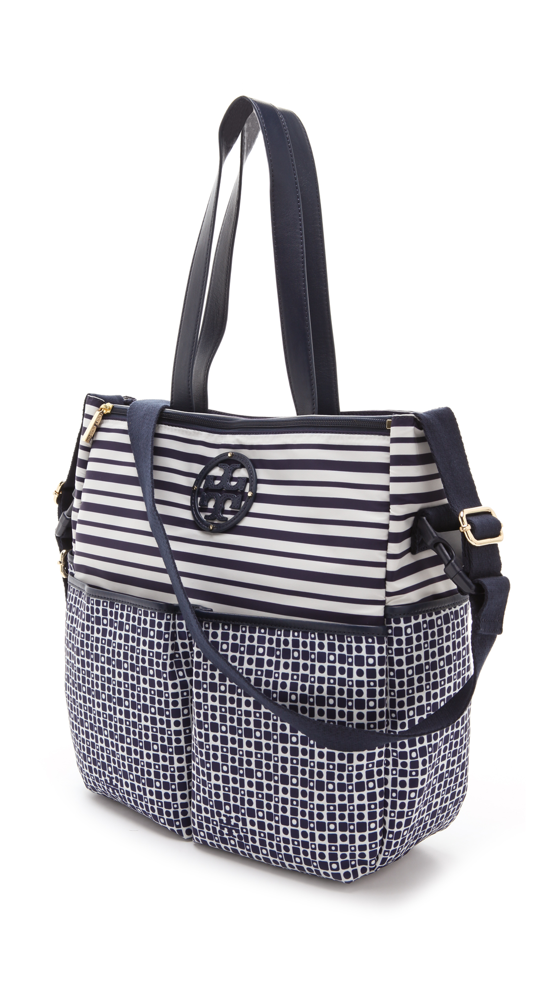 Lyst Tory Burch Stacked Logo Billy Baby Bag In Blue
