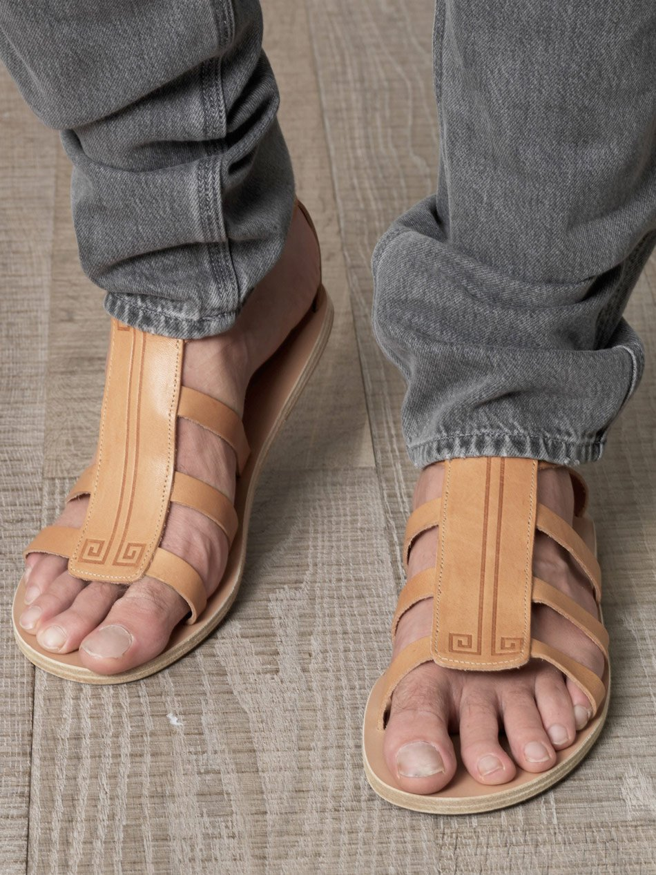 Lyst Ancient Greek Sandals Dionysos Sandals In Natural