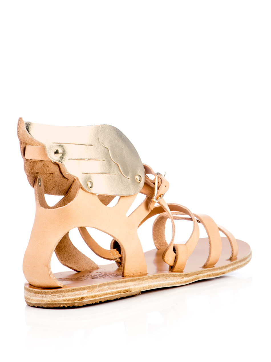 Lyst Ancient Greek Sandals Nephele Wing Sandals In Natural