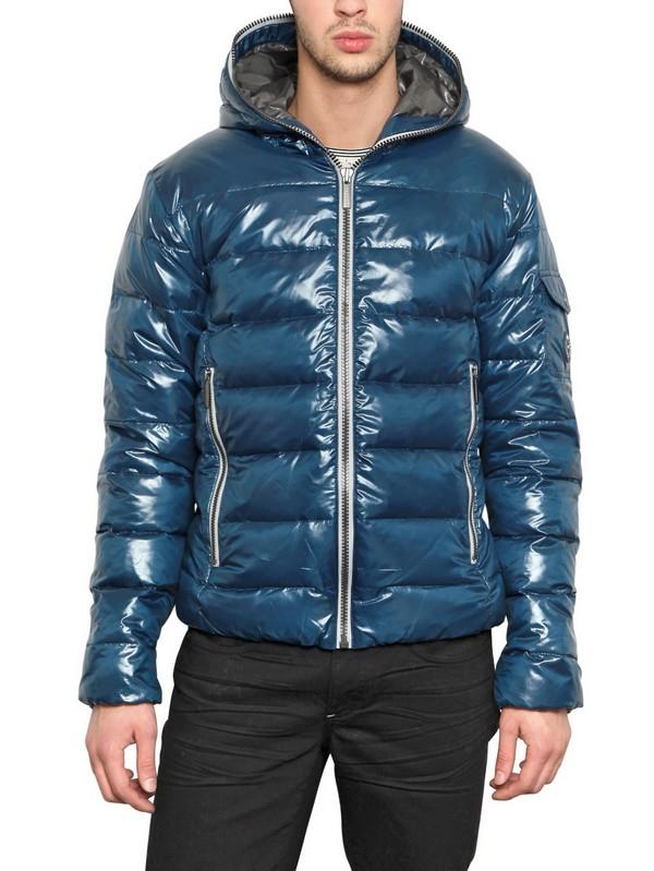 Calvin Klein Jeans Shiny Down Jacket In Blue For Men Lyst