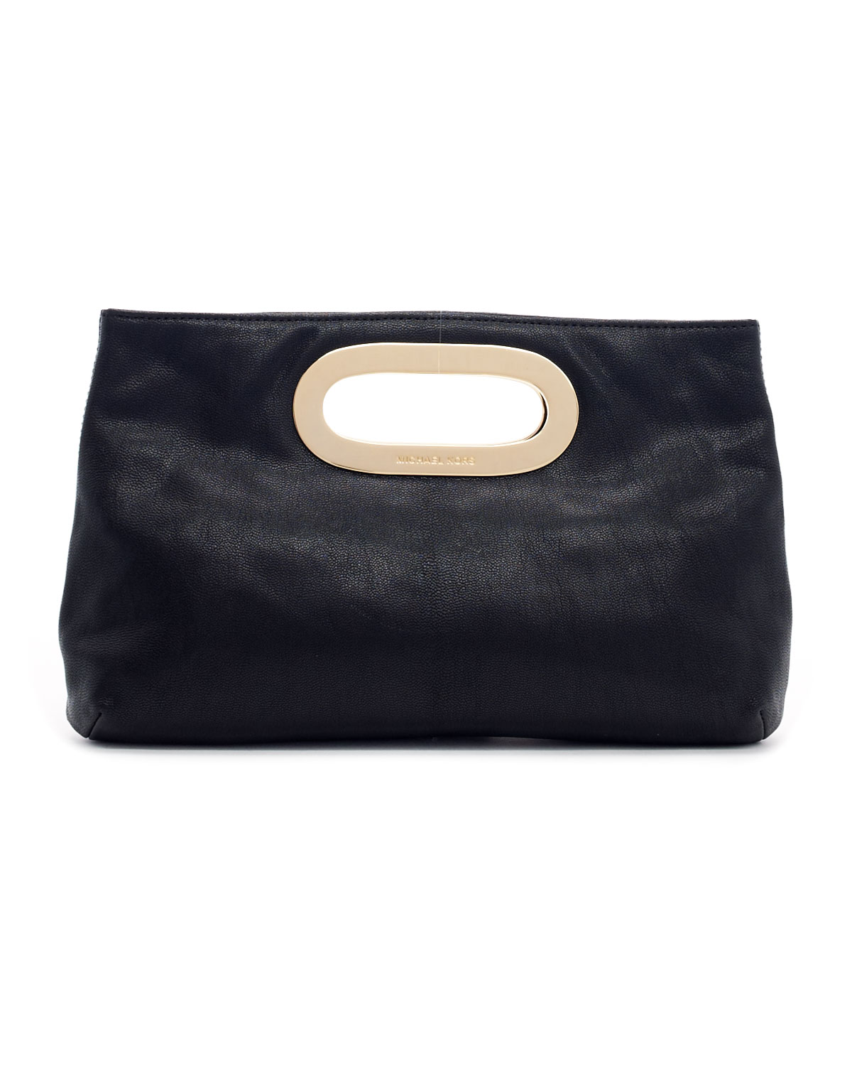michael michael kors berkley pebbled leather clutch bag in black lyst. Black Bedroom Furniture Sets. Home Design Ideas