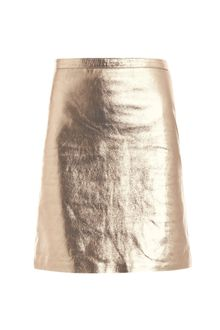 Opening Ceremony Metallic Leather Pencil Skirt - Lyst
