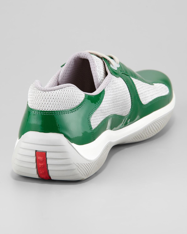 Prada Americas Cup Sneaker in Red