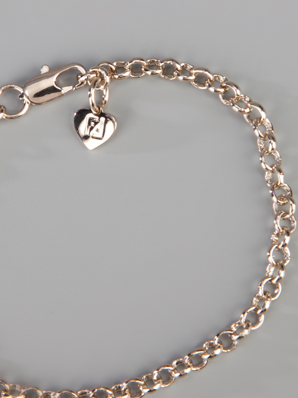 fendi charm bracelet in gold lyst