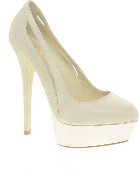 river island platform shoes in beige lyst