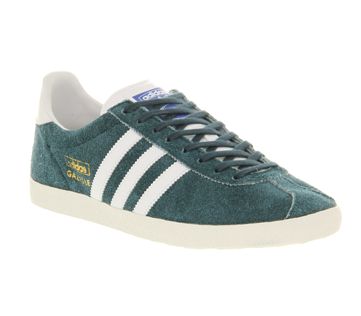 3229e685b82a adidas Gazelle Og Dark Petrol Running White Met Gold in Blue for Men ...