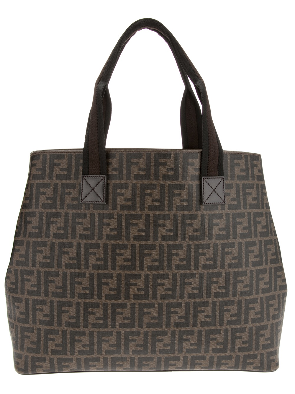 9e77fc28f9cd ... coupon code for fendi monogram tote in brown for men lyst a613c 28671  ...