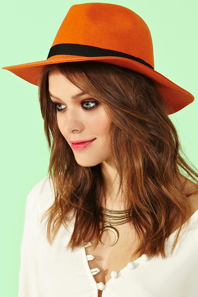 Lyst - Nasty Gal Wonderland Wool Hat in Orange c03d85f1685