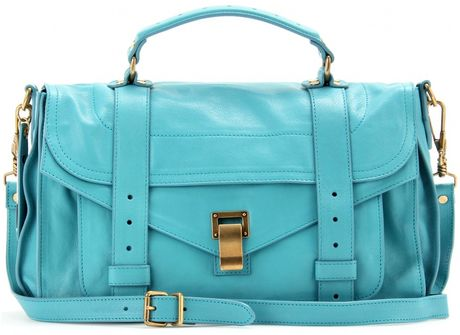 Proenza Schouler Ps1 Medium Leather Tote in Blue