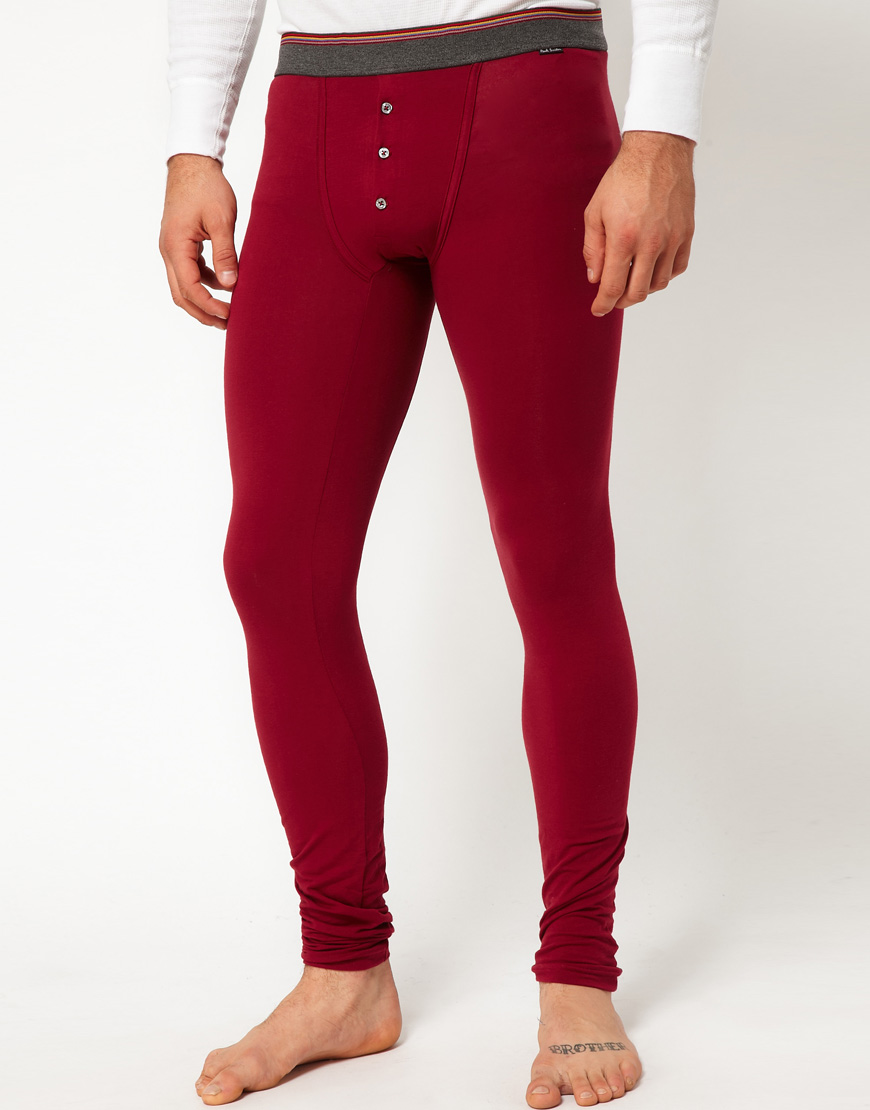 Lyst Paul Smith Long Johns In Red For Men