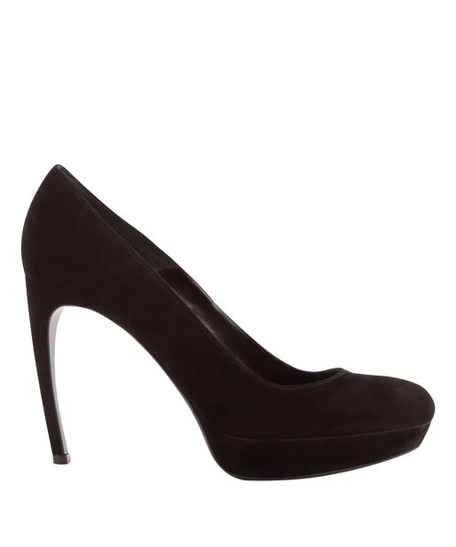 f3ff74dd94d Lyst - Alexander McQueen Black Suede Armadillo Mid-heel Pump in Black