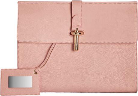 Balenciaga Tube Pochette L in Pink (gold)
