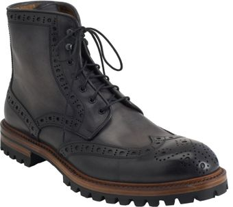 Barneys New York Wingtip Derby Boot - Lyst