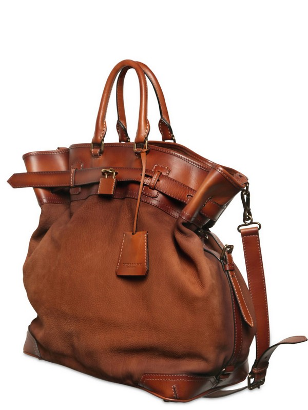 Tarnished Nubuck Leather Bag
