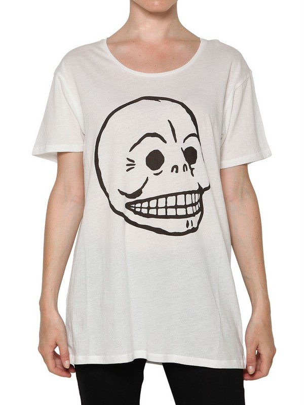 Cheap monday pack of two skull tshirts in white lyst for Really cheap custom shirts