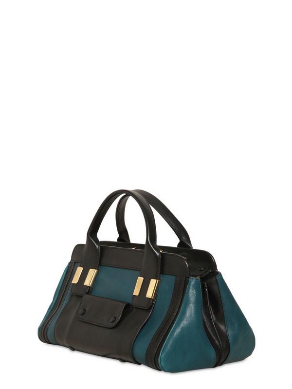 bag cloe - Chlo�� Mini Alice Shiny Natural Leather Bag in Blue   Lyst