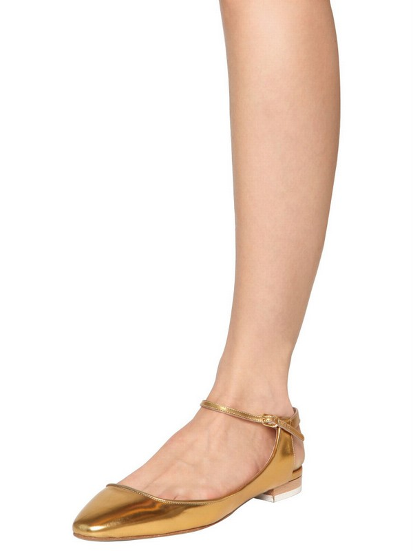 Chloé Metallic Leather Flats sale big discount Cheapest buy cheap affordable perfect BjukmdRiNJ