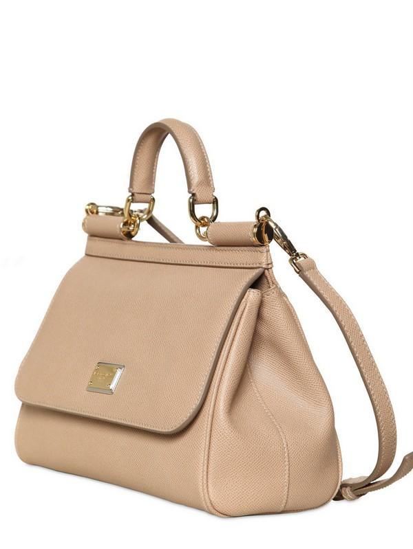 bbfe438bc62f Lyst - Dolce   Gabbana Medium Miss Sicily Saffiano Leather Bag in ...