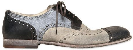 Dolce & Gabbana Milano Waxed Tricolor Derby Shoes in Multicolor for Men (multi)