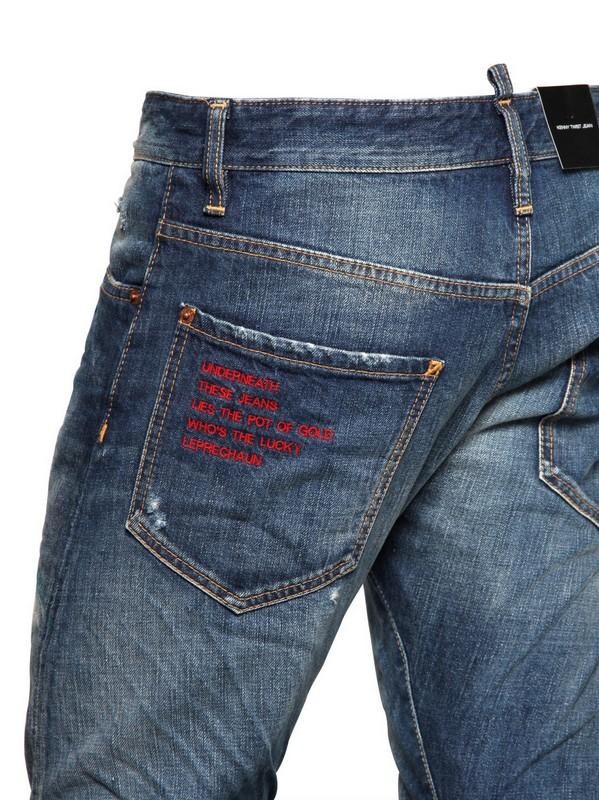 DSquared² 165cm Cerulean Kenny Twist Denim Jeans in Blue for Men