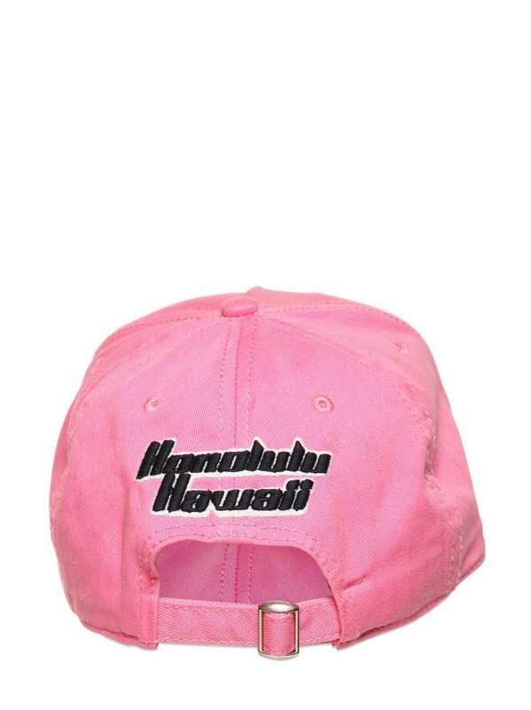 d4c779b9855 DSquared² Dsquared Logo Gabardine Cotton Hat in Pink for Men - Lyst