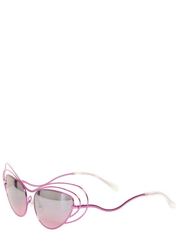 Erdem Metal Sunglasses with Mirrored Lenses in Purple