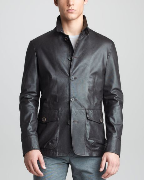 Armani PU leather zipper jacket women s slim jacket for sale