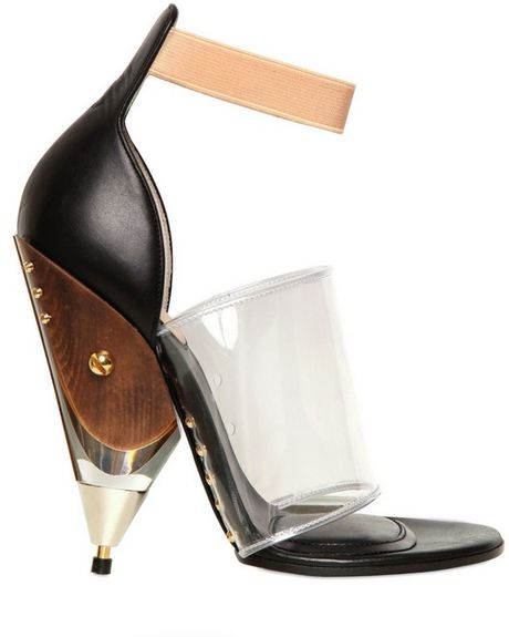Givenchy 120mm Vinyl and Calfskin Sandals in Brown (black) - Lyst