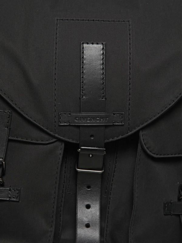 Givenchy Cotton Canvas with Leather Trim Backpack in Black for Men