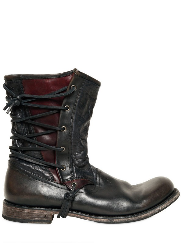 Lyst John Varvatos 20mm Lace Up Leather Pirate Boots In