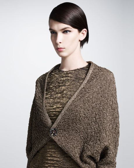 Lanvin cocoon sweater coat in gold