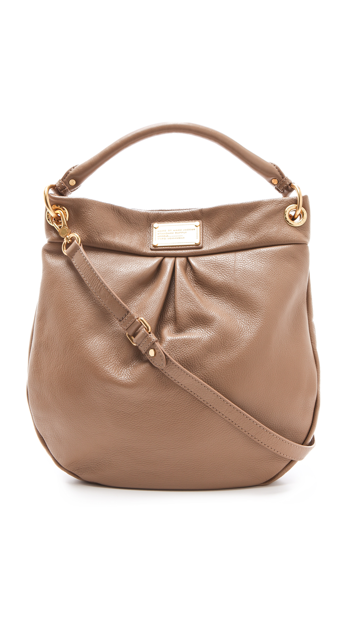 523016de5f77 Lyst - Marc By Marc Jacobs Classic Q Hillier Hobo in Natural