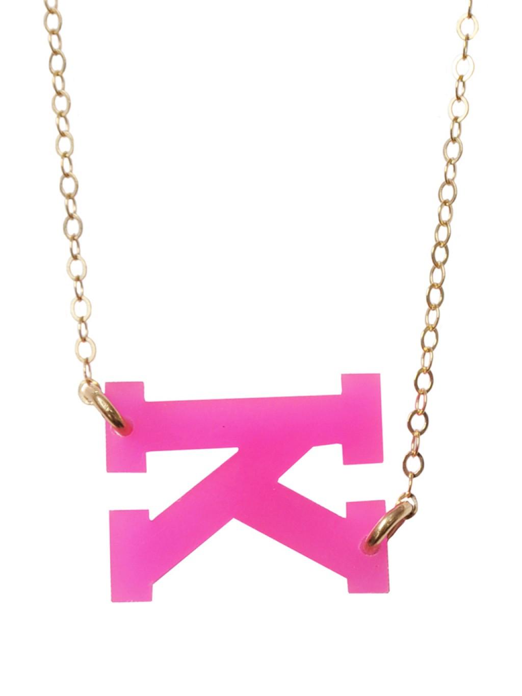 Lyst baublebar moon lola acrylic varsity letter pendant for Acrylic letter necklace