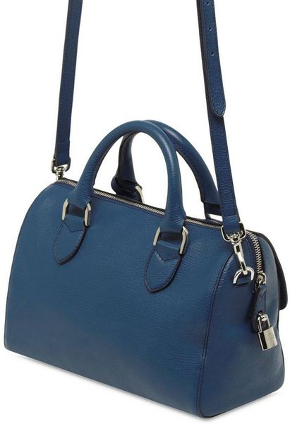 Mulberry Del Rey Small Grainy Leather Bag In Blue