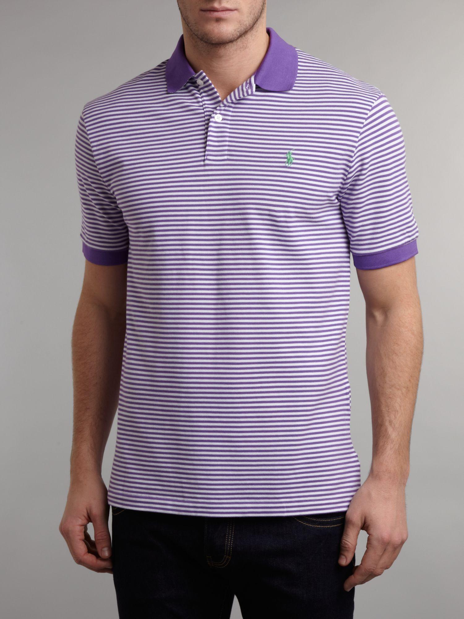 Well known Lyst - Ralph Lauren Golf Fine Striped Polo Shirt in Purple for Men PB29