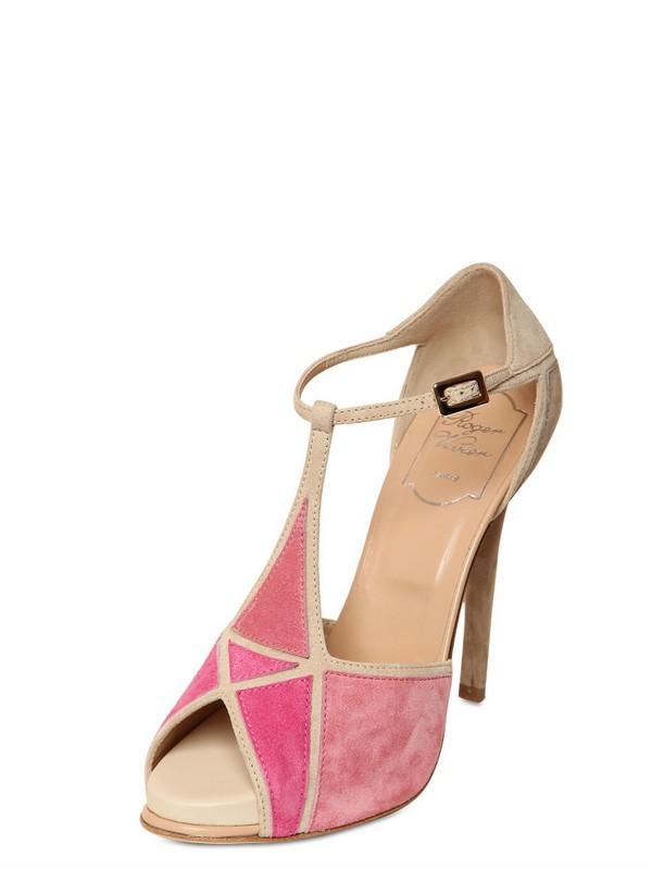 Roger Vivier Embellished suede sandals Ck7xR1