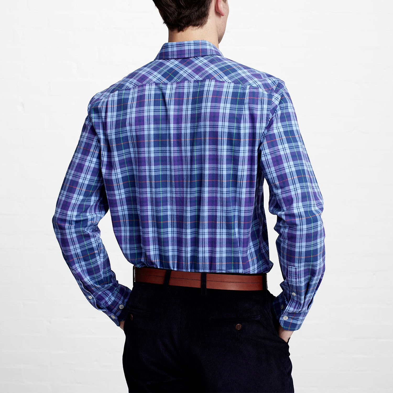Thomas Pink Casual Watford Check Shirt in Navy (Blue) for Men