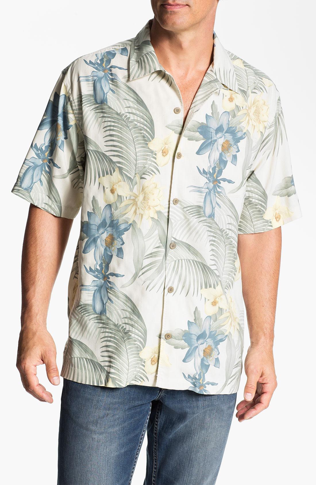Tommy Bahama Mediterranean Breeze Silk Campshirt In White