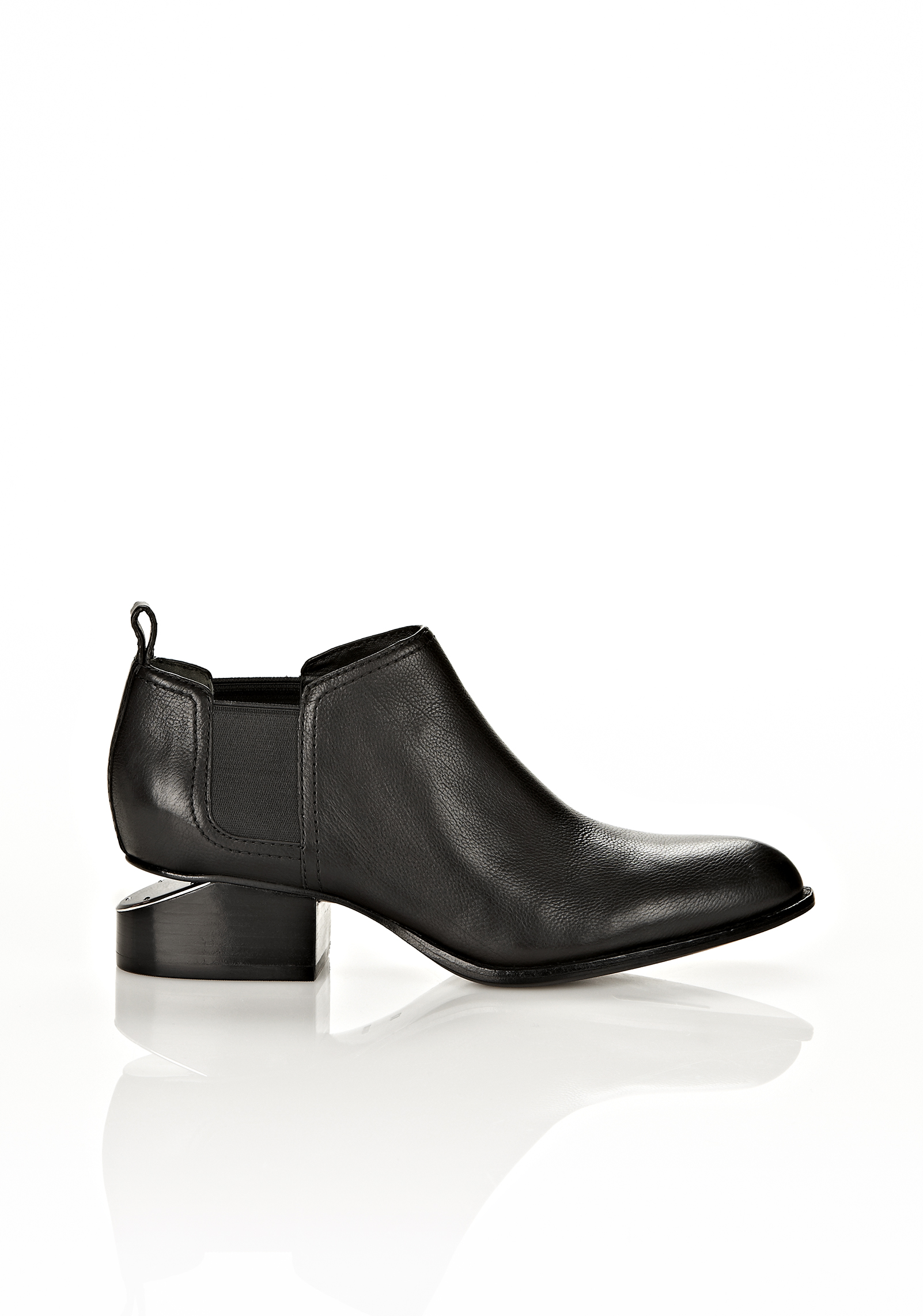 Alexander Wang Low Cut-out Heel Ankle Boots in Black