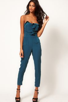 ASOS Collection Asos Bandeau Jumpsuit with Frill Front - Lyst