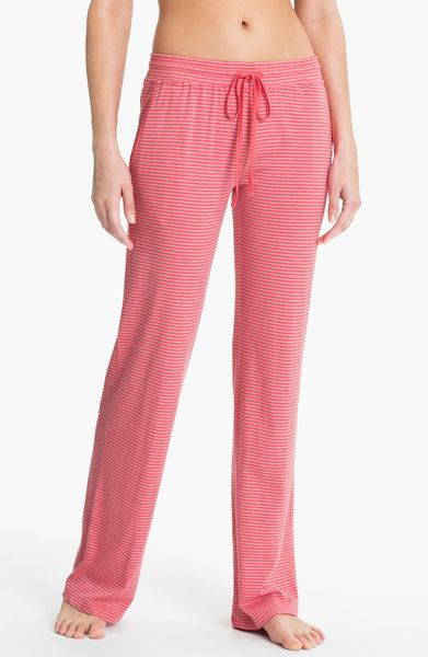 Daniel Buchler Stripe Lounge Pants In Pink Berry Lyst