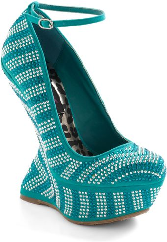 ModCloth Once in A Blue Lagoon Wedge - Lyst