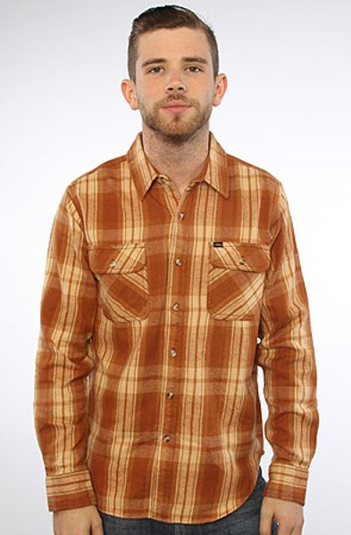 Obey The Merrick Buttondown in Sierra in White for Men (brown plaid) - Lyst