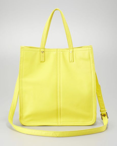 Tory Burch Violet Small Tote Bag  in Yellow (citrus)