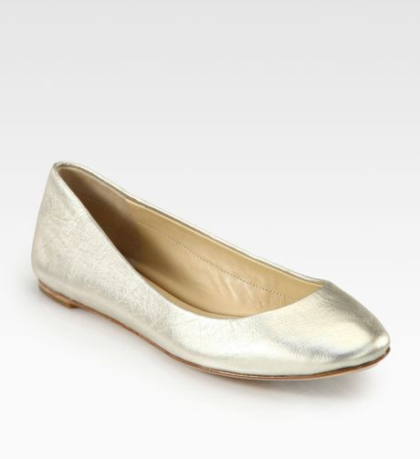 Flex Leather Ballet Flat Shoes