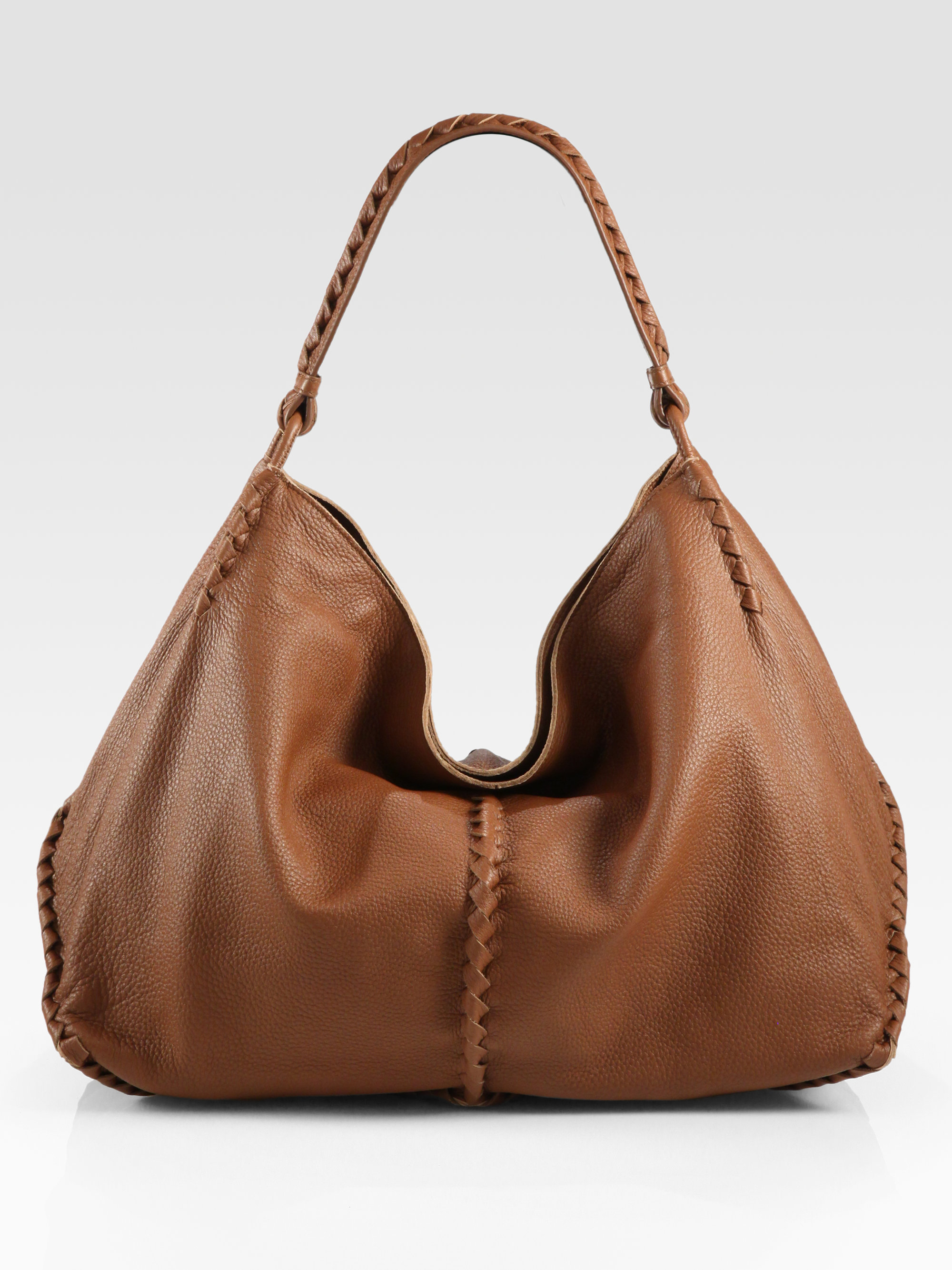 f9b9810327b8 Lyst - Bottega Veneta Cervo Large Hobo Bag in Brown