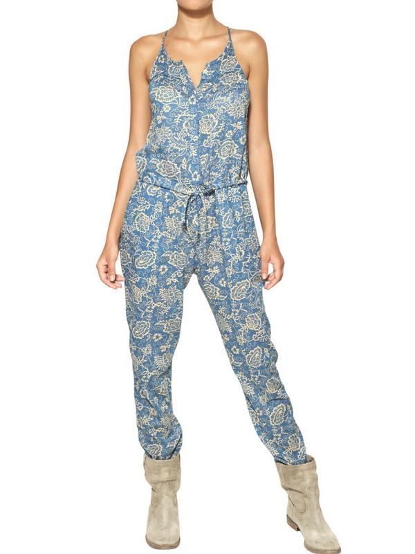 d1bad84400 Lyst - Étoile Isabel Marant Seth Floral-Print Cotton-Voile Jumpsuit ...